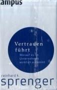 Vertrauen führt (eBook, PDF) - Sprenger, Reinhard K.