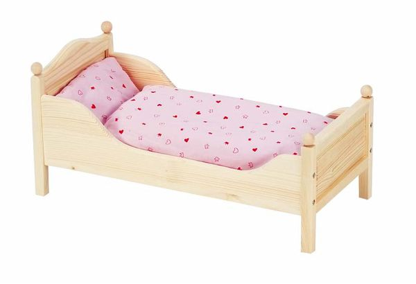 goki 51917 puppenbett aus holz 54 5 x 27 x 25 5 cm. Black Bedroom Furniture Sets. Home Design Ideas