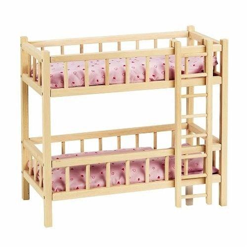 goki ra206 puppenbett mit 2 etagen etagenbett mit leiter buchenholz 59 x bei b. Black Bedroom Furniture Sets. Home Design Ideas