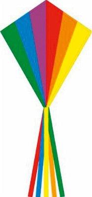 Invento 102115 - Ecoline Eddy Rainbow, Kinderdrachen Einleiner, 70 x 58 cm