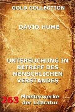 Untersuchung in Betreff des menschlichen Verstandes (eBook, ePUB) - Hume, David