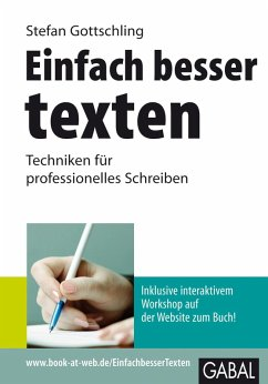 Einfach besser texten (eBook, PDF) - Gottschling, Stefan