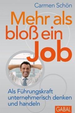 Mehr als bloß ein Job (eBook, PDF) - Schön, Carmen