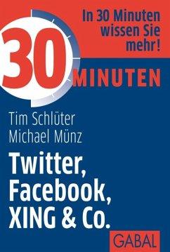 30 Minuten Twitter, Facebook, XING & Co. (eBook, ePUB) - Schlüter, Tim; Münz, Michael