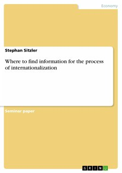 Where to find information for the process of internationalization