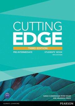 Cutting Edge Pre-Intermediate Students' Book with DVD - Crace, Araminta; Moor, Peter; Cunningham, Sarah