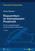 Klausurenkurs im Internationalen Privatrecht