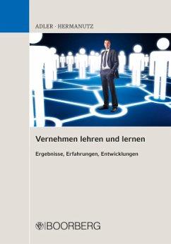 Vernehmen lehren und lernen - Adler, Frank;Hermanutz, Max