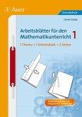 Arbeitsblätter für den Mathematikunterricht 1