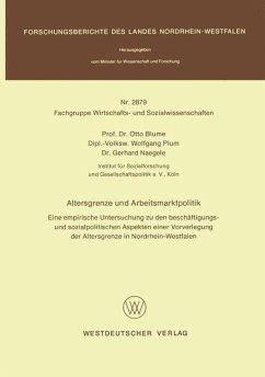 Altersgrenze und Arbeitsmarktpolitik - Blume, Otto