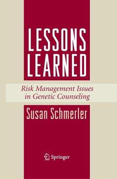 Lessons Learned (eBook, PDF) - Schmerler, Susan