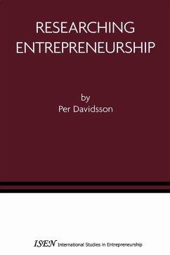 Researching Entrepreneurship (eBook, PDF) - Davidsson, Per