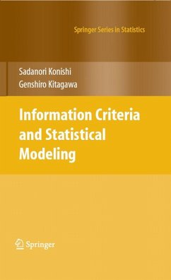 Information Criteria and Statistical Modeling (eBook, PDF) - Kitagawa, Genshiro; Konishi, Sadanori