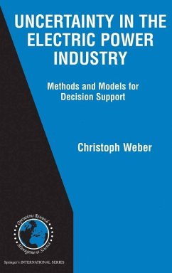 Uncertainty in the Electric Power Industry (eBook, PDF) - Weber, Christoph