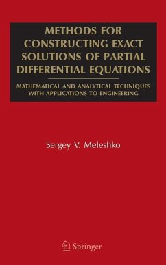 Methods for Constructing Exact Solutions of Partial Differential Equations (eBook, PDF) - Meleshko, S. V.