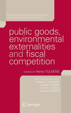 Public goods, environmental externalities and fiscal competition (eBook, PDF)