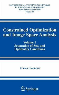 Constrained Optimization and Image Space Analysis (eBook, PDF) - Giannessi, Franco