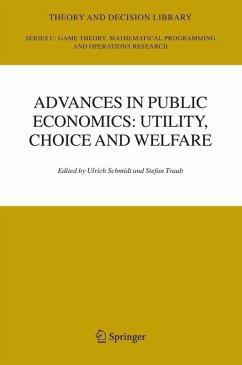 Advances in Public Economics: Utility, Choice and Welfare (eBook, PDF)