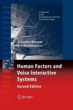 Human Factors and Voice Interactive Systems (eBook, PDF) - Blanchard, Harry E.; Gardner-Bonneau, Daryle