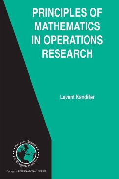 Principles of Mathematics in Operations Research (eBook, PDF) - Kandiller, Levent