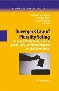 Duverger's Law of Plurality Voting (eBook, PDF)