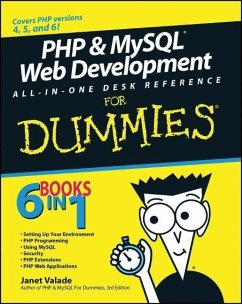 PHP and MySQL Web Development All-in-One Desk Reference For Dummies (eBook, PDF) - Valade, Janet; Ballad, Tricia; Ballad, Bill