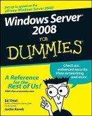 Windows Server 2008 For Dummies (eBook, PDF)