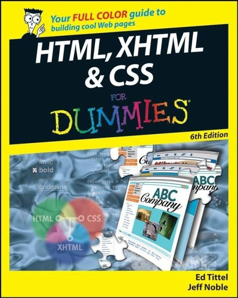 Html Xhtml And Css For Dummies Ebook Pdf Von Ed Tittel Jeff