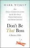 Don't Be That Boss (eBook, PDF)
