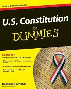 U.S. Constitution For Dummies (eBook, PDF) - Arnheim, Michael