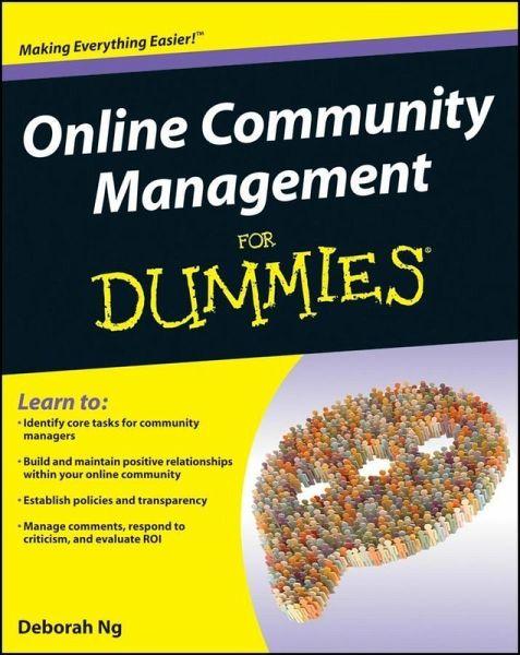 Online Community Management For Dummies (eBook, PDF) von