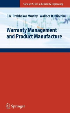 Warranty Management and Product Manufacture (eBook, PDF) - Murthy, D. N. Prabhakar; Blischke, Wallace R.
