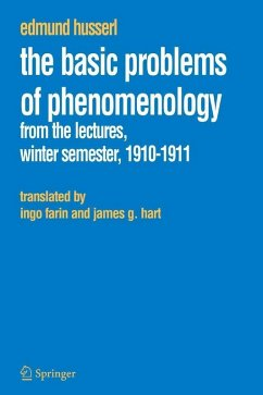 The Basic Problems of Phenomenology (eBook, PDF) - Husserl, Edmund