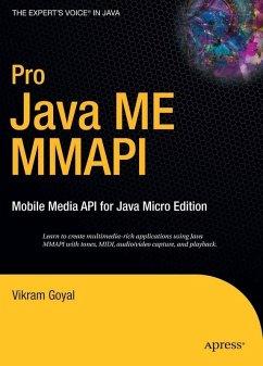 Pro Java ME MMAPI (eBook, PDF) - Goyal, Vikram