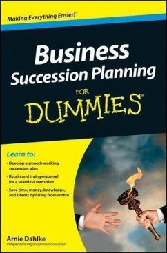 Business Succession Planning For Dummies (eBook, ePUB) - Dahlke, Arnold