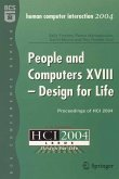 People and Computers XVIII - Design for Life (eBook, PDF)