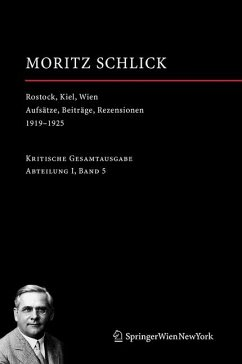 Rostock, Kiel, Wien (eBook, PDF) - Schlick, Moritz