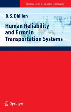 Human Reliability and Error in Transportation Systems (eBook, PDF) - Dhillon, B. S.