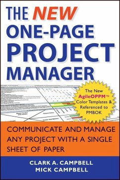 The New One-Page Project Manager (eBook, ePUB) - Campbell, Clark A.; Campbell, Mick