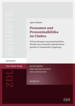 Pronomen und Pronominalklitika im Cimbro (eBook, PDF) - Kolmer, Agnes