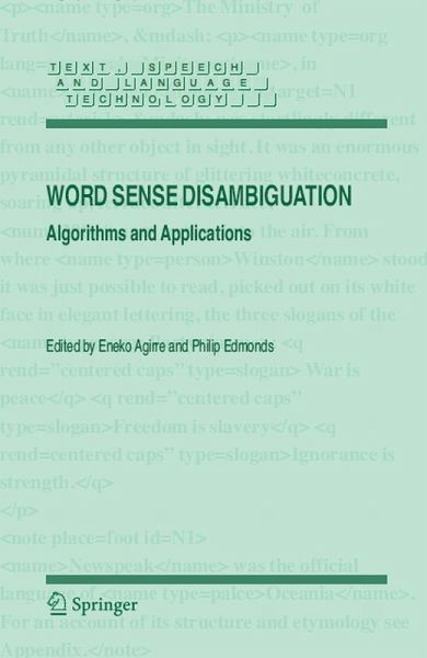 Thesis on word sense disambiguation
