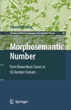Morphosemantic Number: (eBook, PDF) - Harbour, Daniel