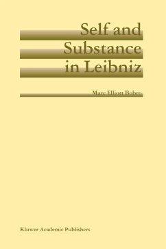 Self and Substance in Leibniz (eBook, PDF) - Bobro, Marc Elliott