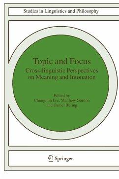 Topic and Focus (eBook, PDF)