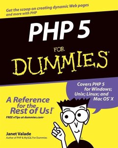PHP 5 For Dummies (eBook, PDF) - Valade, Janet