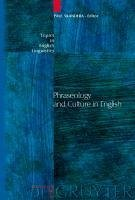 Phraseology and Culture in English (eBook, PDF)