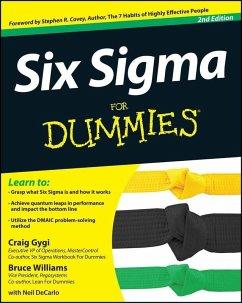Six Sigma For Dummies (eBook, PDF) - Gygi, Craig; Williams, Bruce; Decarlo, Neil