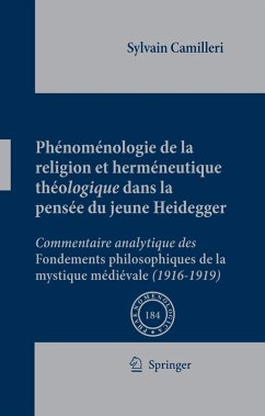 Phénoménologie de la religion et herméneutique théologique dans la pensée du jeune Heidegger (eBook, PDF)