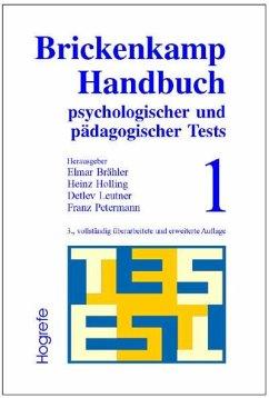 Brickenkamp Handbuch psychologischer und pädagogischer Tests, 2 Bde., Bd.1 (eBook, PDF) - Holling, Heinz; Brähler, Elmar; Brickenkamp, Rolf