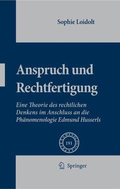Anspruch und Rechtfertigung (eBook, PDF) - Loidolt, Sophie
